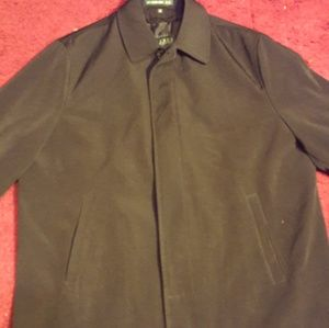 Lauren Ralph Lauren M Black Mens Trench Coat Jack